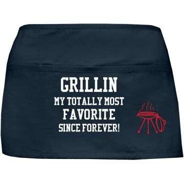 My totally most favorite | Custom fun BBQ apron.