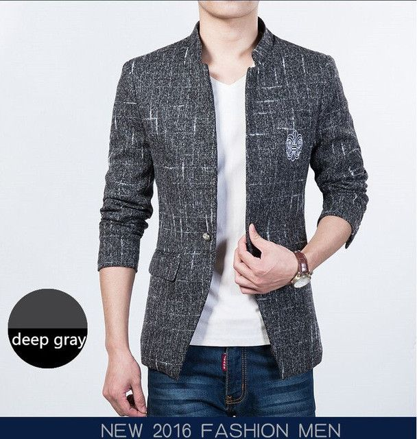 New Arrival Men Blazer Male Formal Fashion Casual Suit Jacket Slim Fit Blazers Jackets 4 Colors Plus Size M-5XL Outwear