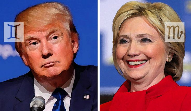 Donald Trump and Hillary Clinton Horoscope & Astrology Charts