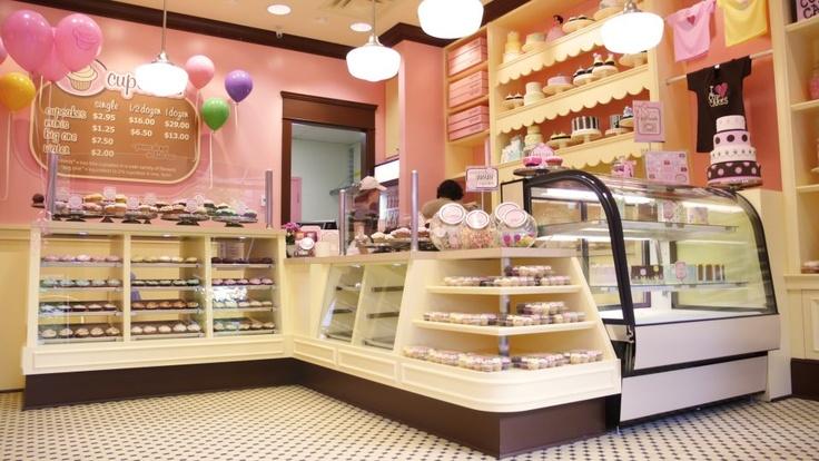 Cute cupcake store