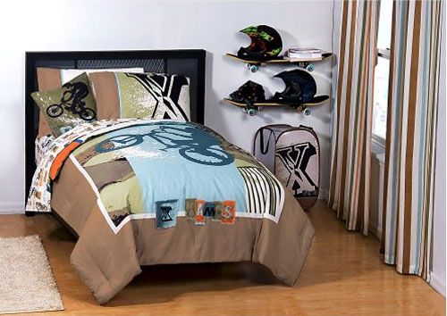 X-Games Full Sheet Set - 4pc Skateboarding BMX Sheets Full-Double Bed