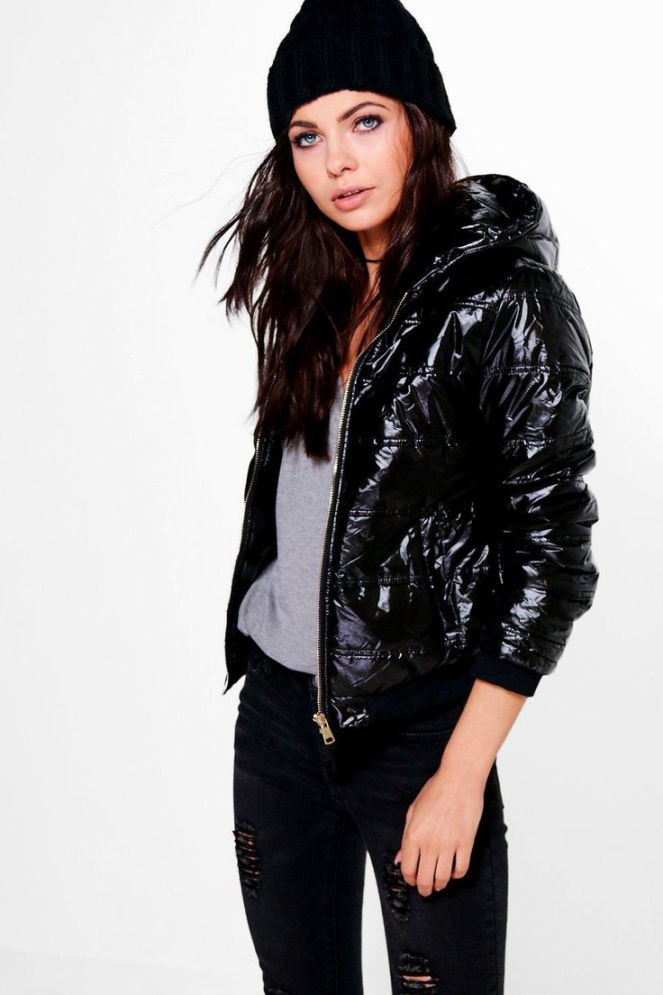 Holly Crop Padded Jacket With Hood