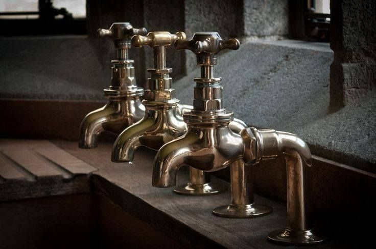 """MHH&B Trade Toy of the Day. From the bespoke faucets of Barber Wilsons & Co. LTD comes a series of 1/2"""" deck mount bib taps. A classic single feed faucet with your choice of a 1/4 turn ceramic cartridge or the original compression fitting...not to mention, some of the most beautiful hand done finishes on the market! #classickitchen #bibtaps #potfillers #britishtaps #bespoke #madetoorderfaucets #kitchenfaucets #kitchendesign #interiordesign #Tradetoyoftheday #toystoretothetrade"""
