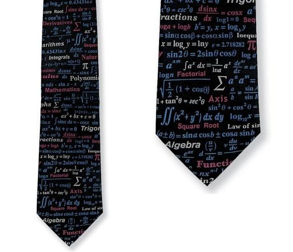 Tie with equations