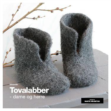 Tovalabber str 37-39 og 41-43 - Design by Marte Helgetun Garn: Hverdags 27m pr 10cm