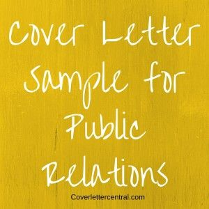 examples of cover letter