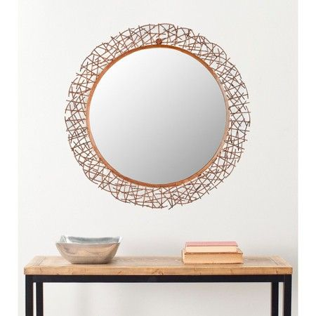 Safavieh Decorative Twig Mirror - Gold : Target