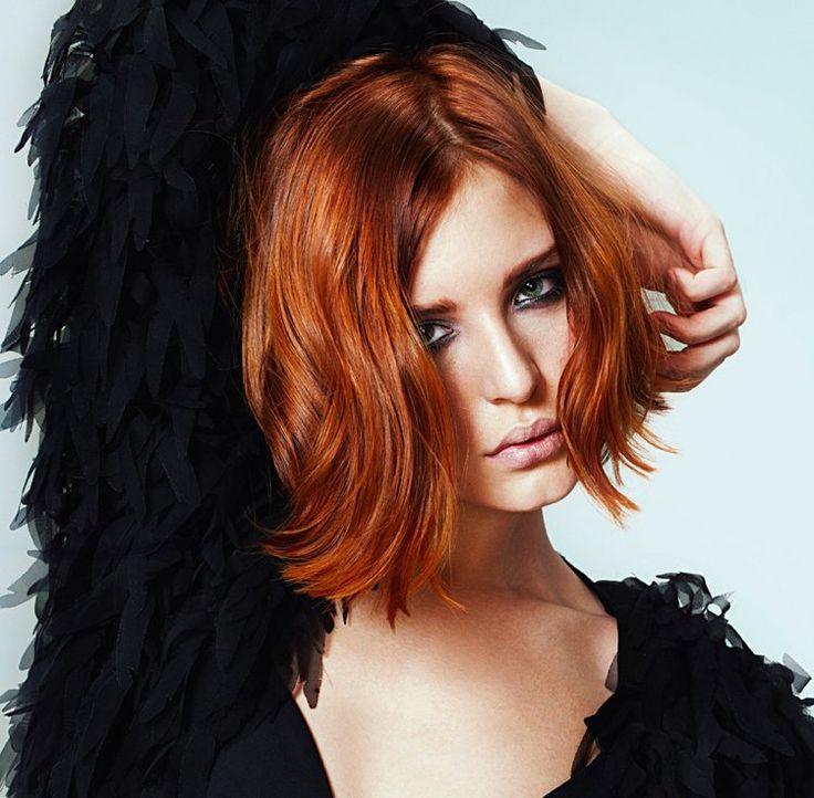 17 meilleures id es propos de cheveux roux auburn sur - Coloration roux cuivre ...