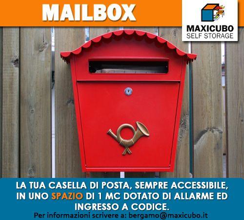 #MAILBOX La tua casella di posta, sempre accessibile, in uno spazio di 1 mc dotato di allarme ed ingresso a codice. #selfstorage