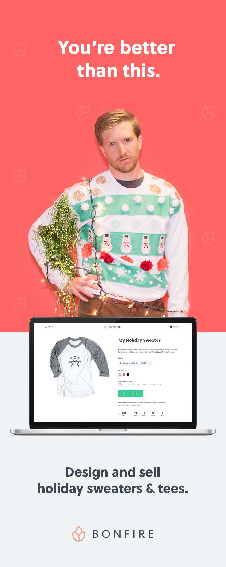 Design your t shirt and sell - Design And Sell Holiday Sweaters And Tees