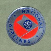 Vintage Airline luggage label  national airline  #573