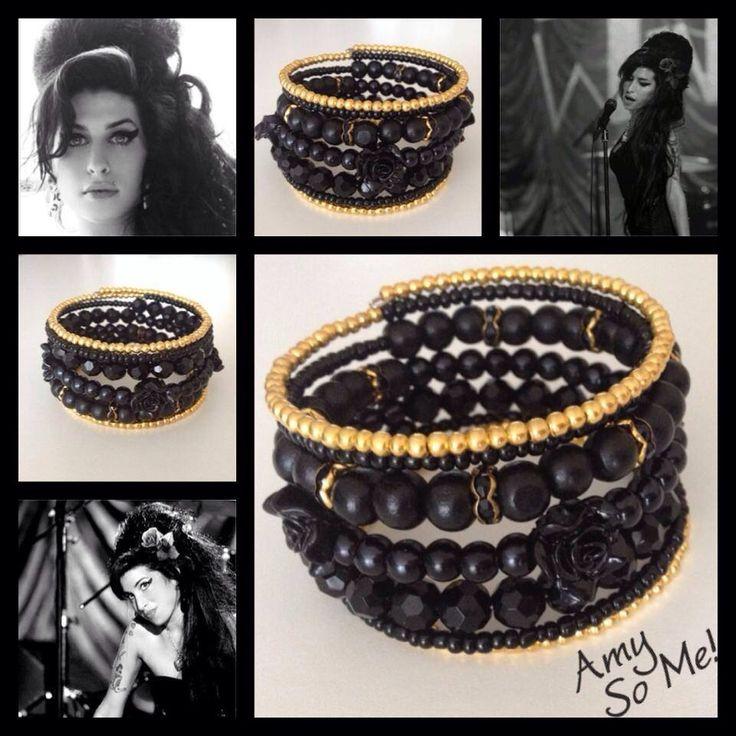 Amy! Moderne, mooie zelfgemaakte armbanden, glas parels, glas kralen , Memory wire, http://some-accessoires.nl
