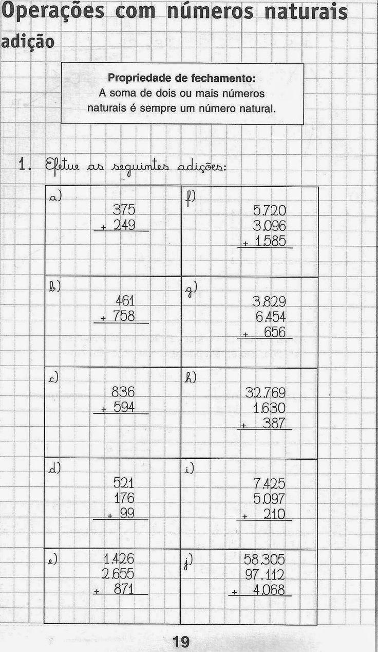 Pedagogia & Cia...: Atividades de matemática para imprimir 5º ano.