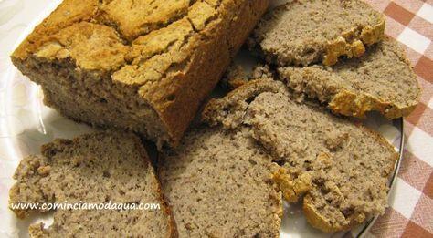 Pane di grano saraceno e farina di riso. Questa ricetta va bene anche per chi usa la macchina del pane, io utilizzo il programma di cottura 3 ore / 3 ore e mezzo