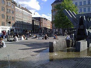 Sankt Hans Torv (lit. English: St. John's Market) is a public square in the heart of the Nørrebro district of Copenhagen, Denmark.