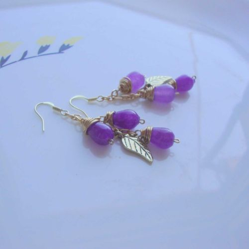 Natural Alexandrite earrings,semi precious gemstone free shipping