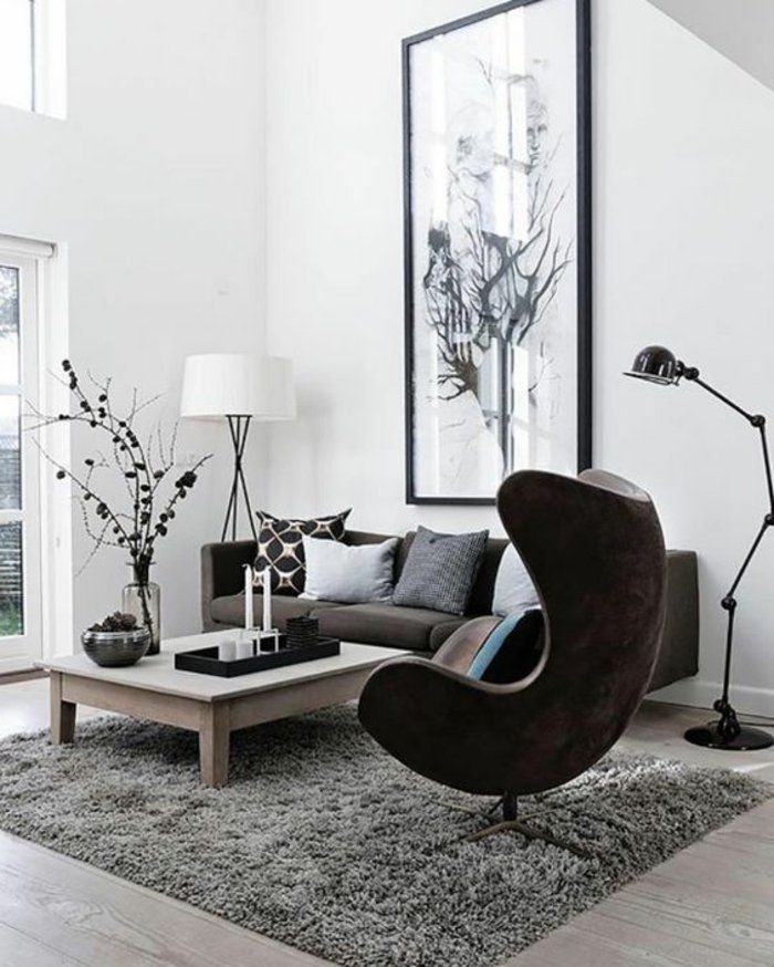 1001 photos inspirantes d 39 int rieur minimaliste tapis moelleux salons minimalistes et. Black Bedroom Furniture Sets. Home Design Ideas