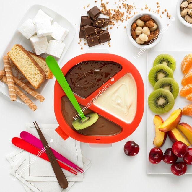 Zestaw do czekoladowego fondue - 7 elementów | LEKUE NATIVE