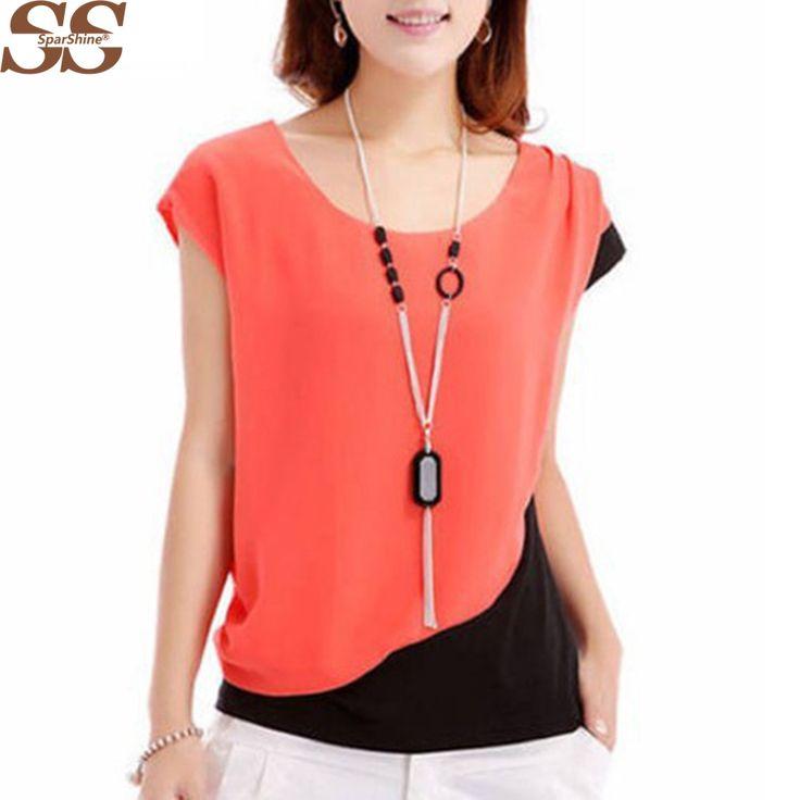 Short Sleeve Shirt Blusas Femininas women tops Fashion 2017 Summer Chiffon Blouses shirt Women's New Casual Tops plus size