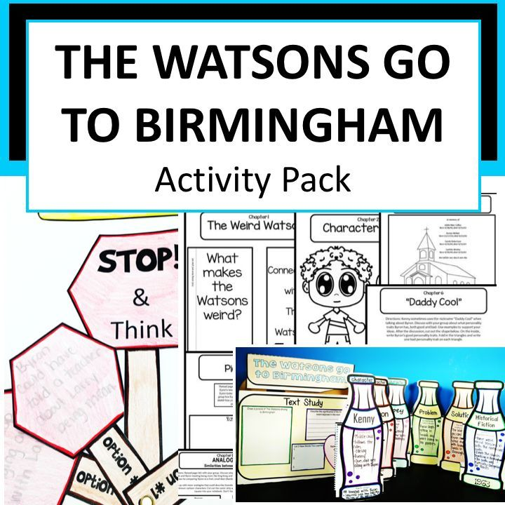 The Watsons Go To Birmingham 1963 Activity Pack Teacher Lesson
