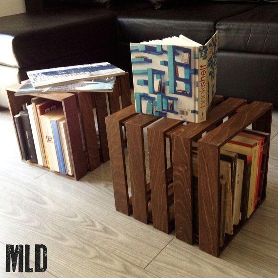 LE CUBOT: cubo modulare in legno a 2 elementi componibili MLDesign. Portaoggetti, tavolo, libreria, comodino in legno. Prodotto artigianale