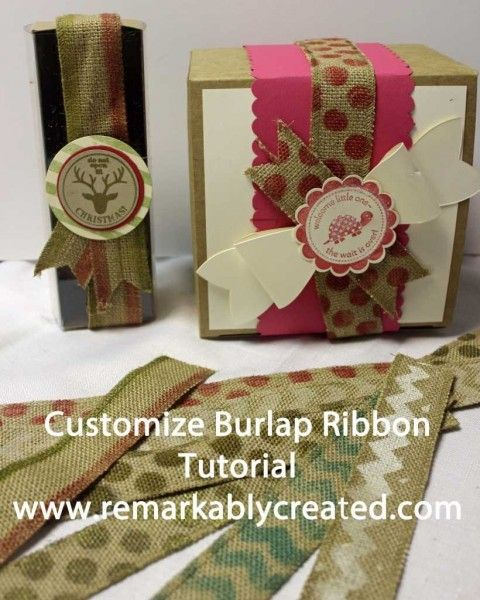 customize Burlap Ribbon