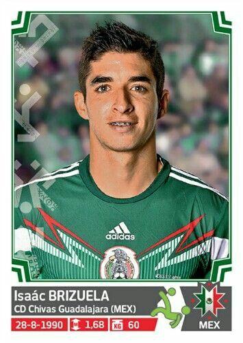 Isaac Brizuela of Mexico. Copa America 2015 card.