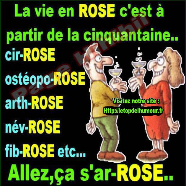 La Vie En Rose C Est A Partir De La Cinquantaine Humour Phrases