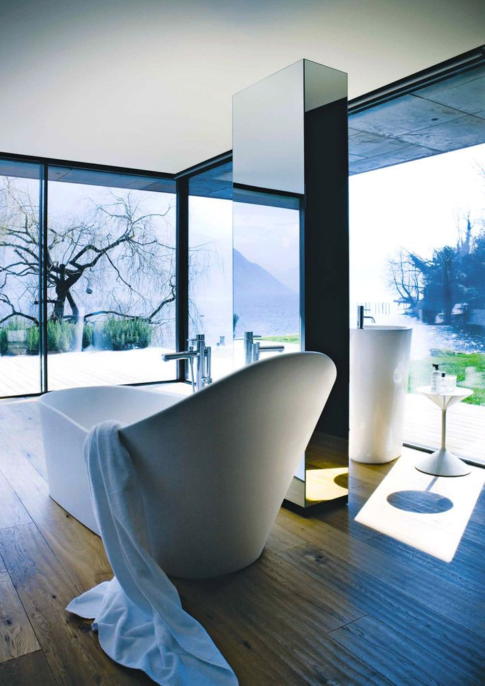 Top Ten: Ludovica and Roberto Palomba's most representative pieces: Menhir Bathtub, Laufen, 2012