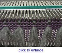 How to thrum on a knitting machine