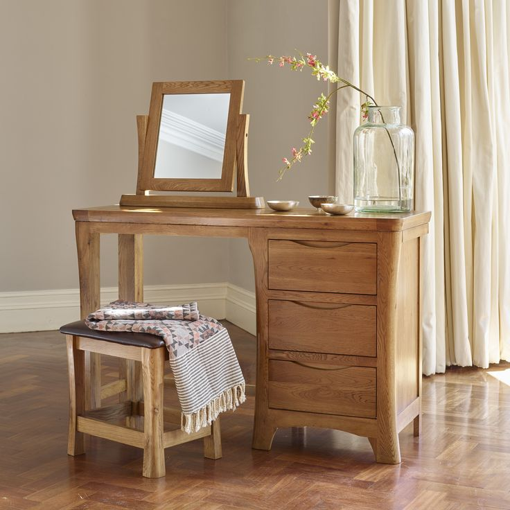 Orrick Rustic Solid Oak Dressing Table The