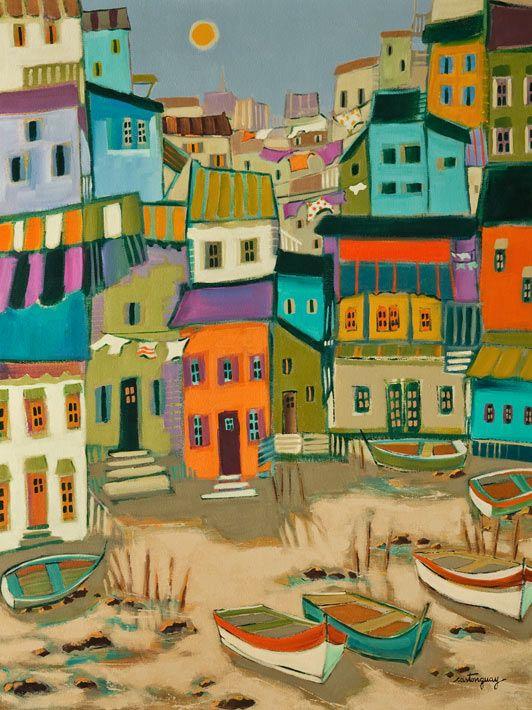 Un villages de pecheurs, by Claudette Castonguay