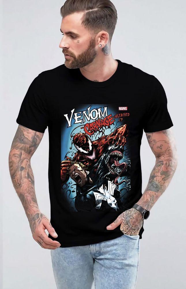 1fc5ccc8994 New Venom Carnage Unleashed Tshirt Short Sleeve Men s Shirt Cotton T-Shirt   fashion  clothing  shoes  accessories  mensclothing  shirts (ebay link)