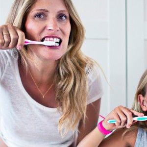 Träna magstödet då du borstar tänderna!