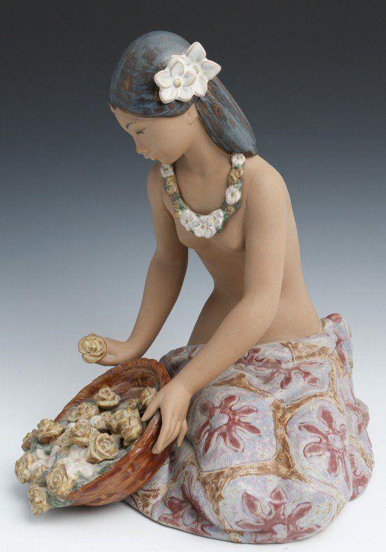 Lladro Porcelain Figure Flower Vender