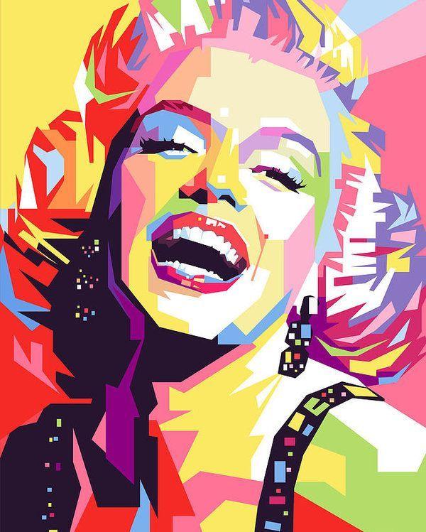 Monroe Poster Featuring The Painting Marylin Monroe Pop Art By Ahmad Nusyirwan In 2020 Pop Art Pop Art Posters Pop Art Painting