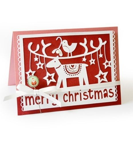 *Merry Christmas*1 Stanze*Weihnachtskarte*Scrapbooking*