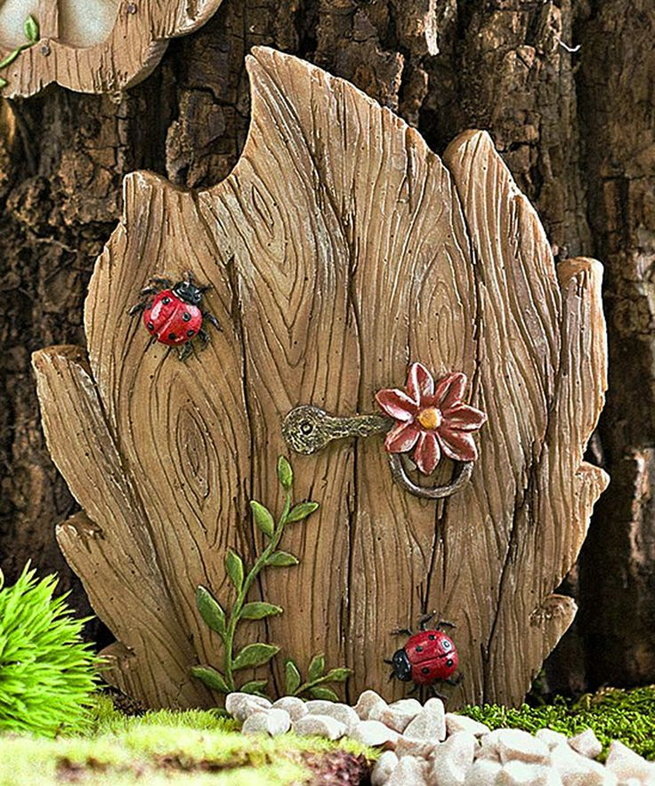 Love this Miniature Fairy Garden Daisy Door Tree Accent by Plow \u0026 Hearth on #zulily & 1042 best Faerie Doors images on Pinterest   Fairy doors Fairies ...