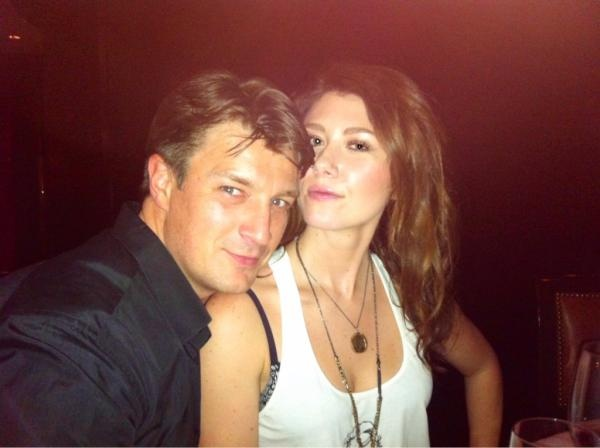 Mal and Kaylee. Err, Nathan Fillion and Jewel Staite.