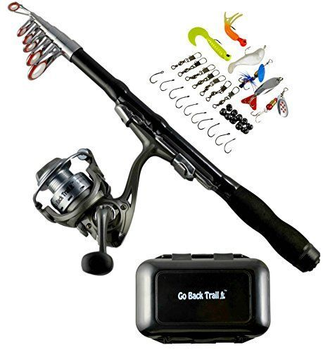 Fishing Rod Reel Kit - Backpacking Ultralight Spinning Rod & Reel Combos with Tackle Box - 1.5m Collapsible Telescoping Rod - Carbon Fiber Design - Camping Travel Hiking Motorcycles & Backpacks http://fishingrodsreelsandgear.com/product/fishing-rod-reel-kit-backpacking-ultralight-spinning-rod-reel-combos-with-tackle-box-1-5m-collapsible-telescoping-rod-carbon-fiber-design-camping-travel-hiking-motorcycles-backpack/ COMPACT & COLLAPSIBLE 1.5m TRAVEL FISHING ROD: