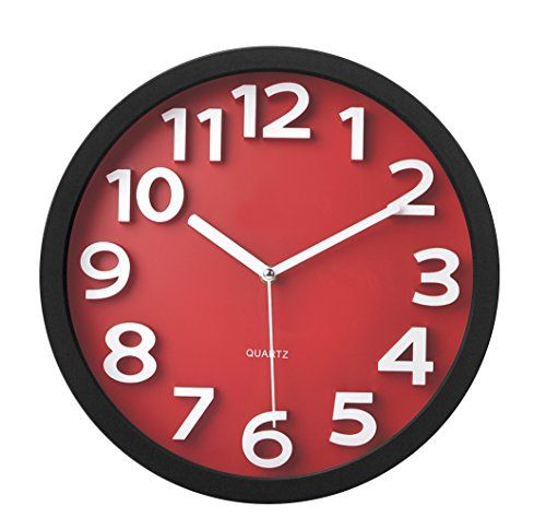 Best Red Kitchen Wall Clocks: Large, Retro, Red Apple And Rooster | Clock