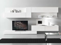 Sectional lacquered TV wall system CF70 - Presotto Industrie Mobili