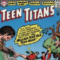 """The Million-Year-Old Teen-Ager!"": At the secret headquarters of the Teen Titans, the group are... Cover by Nick Cardy"