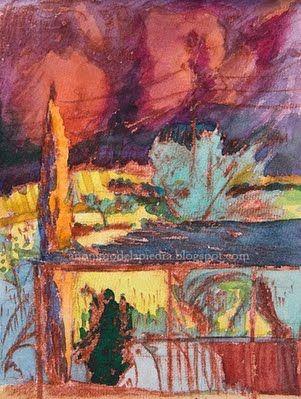 Author : Anónimo de la Piedra.. Landscape : Cartuja de Cazalla. Cazalla de la Sierra.Sevilla