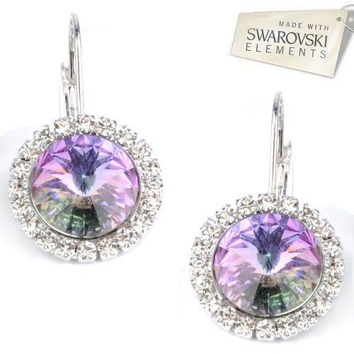 Štrasové náušnice s kryštálmi Swarovski Elements RIVOLI VL Divine Jewellery eshop