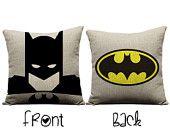 Batman pillow, super hero, Batman, justice league,  superhero pillow, bat signal, Gotham city,  Batman and Robin,  sofa pillow case cushion