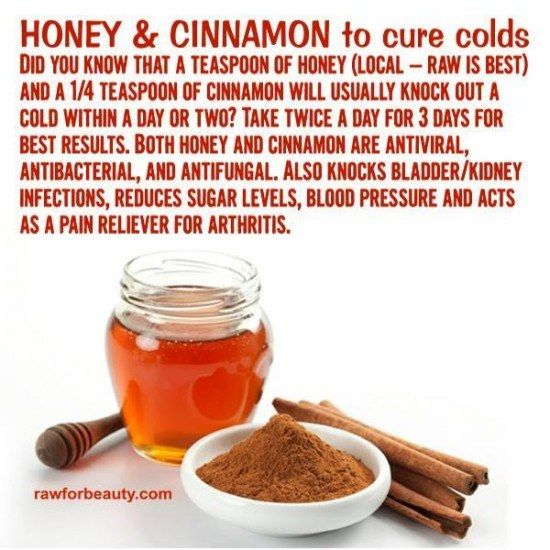 Honey and Cinnamon cold cure