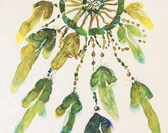 Kat schilderij-originele aquarel dier schilderij by ZenWatercolors