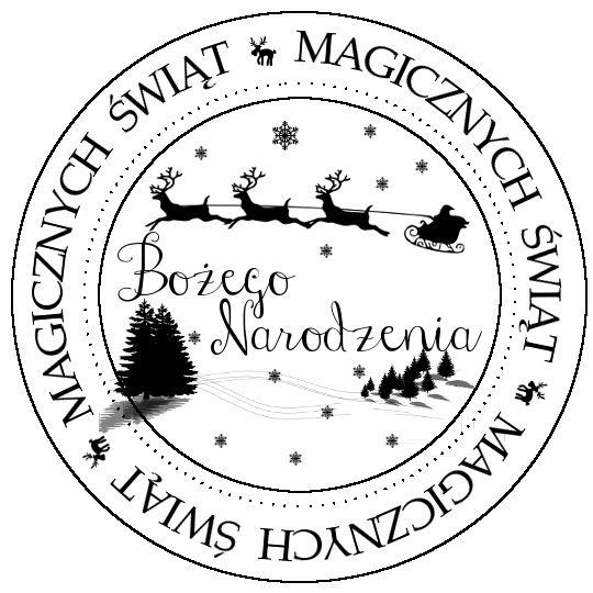 darmowe digi napisy, digi stempel, Boże Narodzenie, magicznych świąt