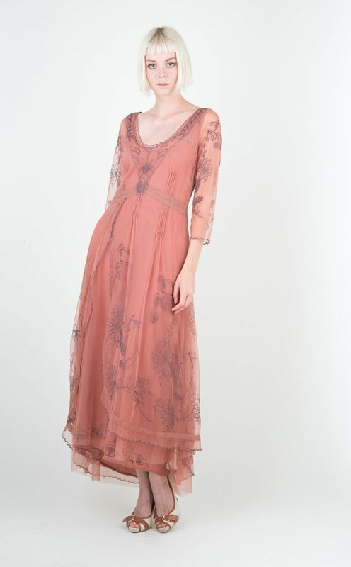 Nataya 40163 cinnamon rose vintage dress nataya downton for Vintage rose wedding dress